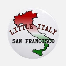 Little Italy San Francisco Ornament (Round)