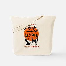 Happy Halloween Bats N Cats Tote Bag