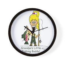 Grandpa's Little Fishing Budd Wall Clock
