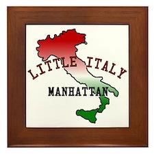 Little Italy Manhattan Framed Tile