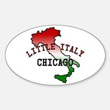 Little Italy Chicago Oval Decal