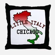 Little Italy Chicago Throw Pillow