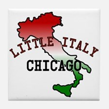 Little Italy Chicago Tile Coaster