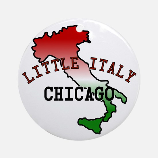 Little Italy Chicago Ornament (Round)