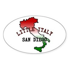 Little Italy San Diego Oval Decal