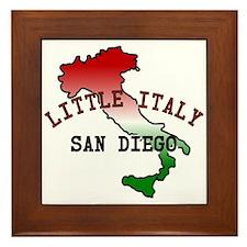 Little Italy San Diego Framed Tile