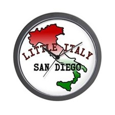 Little Italy San Diego Wall Clock
