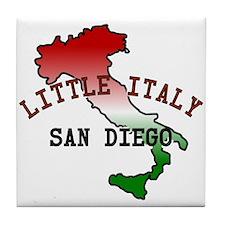 Little Italy San Diego Tile Coaster