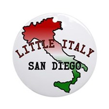 Little Italy San Diego Ornament (Round)
