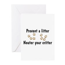 Prevent A Litter Greeting Cards (Pk of 10)
