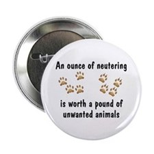"""Ounce of Neutering 2.25"""" Button (10 pack)"""