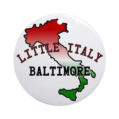 Little Italy Baltimore Ornament (Round)