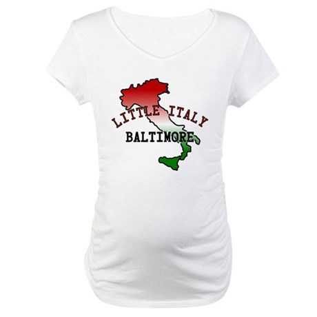 Little Italy Baltimore Maternity T-Shirt