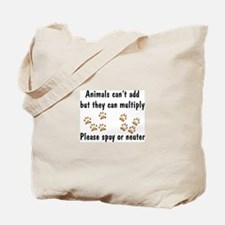 Animals Can't Add Tote Bag