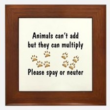 Animals Can't Add Framed Tile