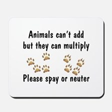 Animals Can't Add Mousepad
