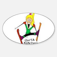 Chloe Skiing Owta Kontrol Oval Decal