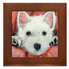 Westie Puppy Love Framed Tile