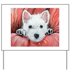 Westie Puppy Love Yard Sign