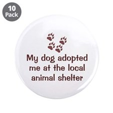 "Dog Adopted Me 3.5"" Button (10 pack)"