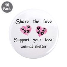 "Share The Love 3.5"" Button (10 pack)"