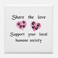 Share The Love Tile Coaster