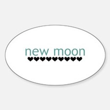 New Moon Oval Decal