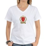 GAUTREAUX Family Crest Women's V-Neck T-Shirt