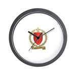 GAUTREAUX Family Crest Wall Clock