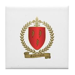 GAUTREAUX Family Crest Tile Coaster