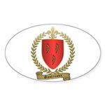 GAUTREAUX Family Crest Oval Sticker (10 pk)