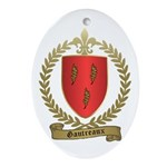GAUTREAUX Family Crest Oval Ornament
