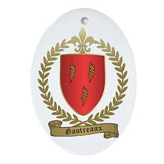 GAUTREAUX Family Crest Oval Ornament