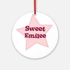 Sweet Emilee Ornament (Round)