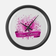 Team Edward Large Wall Clock