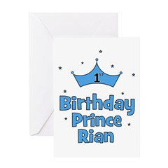 1st Birthday Prince Rian! Greeting Card