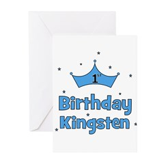 1st Birthday Kingsten! Greeting Cards (Pk of 10)