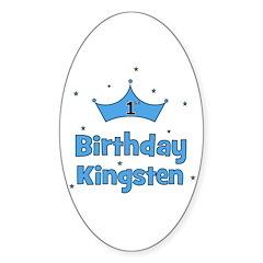 1st Birthday Kingsten! Oval Decal