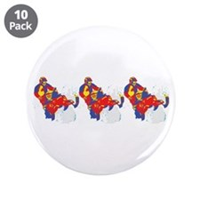 """ARTSY SNOWMOBILER 3.5"""" Button (10 pack)"""