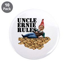 """Gnomes and Cookies 3.5"""" Button (10 pack)"""