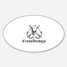 Cross Anchors Oval Decal