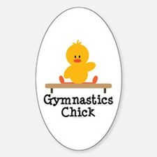 Gymnastics Chick Oval Decal