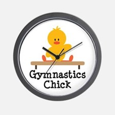 Gymnastics Chick Wall Clock
