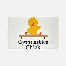 Gymnastics Chick Rectangle Magnet (10 pack)