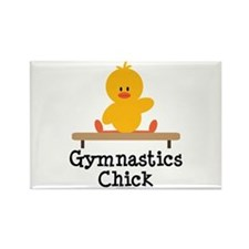 Gymnastics Chick Rectangle Magnet
