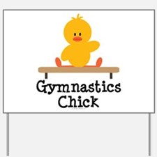 Gymnastics Chick Yard Sign