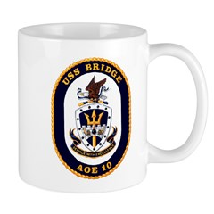 USS Bridge AOE 10 US Navy Ship Mug