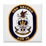 USS Bridge AOE 10 US Navy Ship Tile Coaster