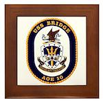 USS Bridge AOE 10 US Navy Ship Framed Tile