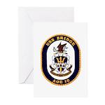 USS Bridge AOE 10 US Navy Ship Greeting Cards (Pk